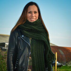 STOBBIES shawl groen sfeer